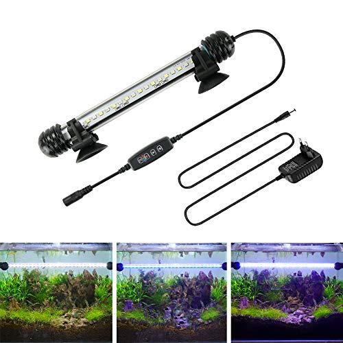 BELLALICHT LED Timer Aquarium Beleuchtung - Aquarien Lampe Weiß Blau Licht mit eingebautem Timer...